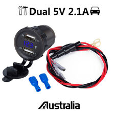 5V 2.1A Dual USB Auto Car Cigarette Adapter Lighter Socket Power Outlet Charger