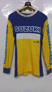 Vintage Motocross Suzuki Rm Factory Racing Team Long Sleeve T-Shirts Size XS