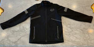Fox black Sz L Racing Legion Jacket Motorcycle convertible to vest Large