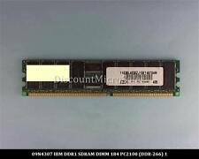 IBM 09N4307 DDR 512MB PC-2100 Reg ECC 266Mhz RAM Memory