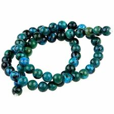 Gemstone Chrysocolla stone round 6mm beads N3