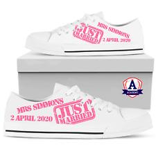 Bombas De Boda Personalizado Zapatos Tenis Entrenadores. Novia Novio Personalizado