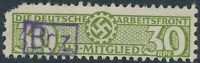 Lot Stamp Germany Revenue WWII 3rd Reich War Era DAF HJ 30 Mitglied Used