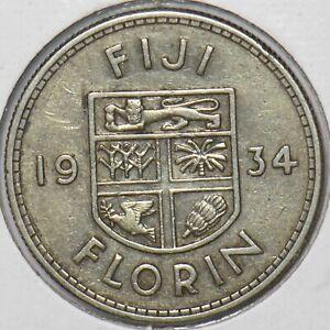 Fiji 1934 Florin 151101 combine shipping