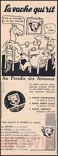 """Document ancien Publicité  Pub Ad  """" VACHE QUI RIT """"  Année 1958  RADIO"""