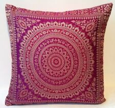 Pink Mandala Cushion Covers Antique Style Banarasi Indian 38cm