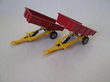 Husky Models Tipping Tipper Hydraulic Farm Trailer(s) Gt Britain (1960 Era) Mint
