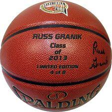 Russ Granik Autographed 2013 Hall of Fame Spalding TF-1000 Basketball w/ COA 4/8