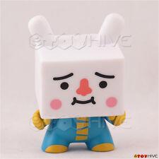 Kidrobot Dunny 2009 vinyl Blue Tofu square head figure by Devil Robots