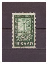 Saarland, Exhibition: Garden and Flowers Michel Number 307, 1951 Used
