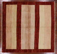 5' Square Gabbeh Hand Knotted Wool Rug - H7527
