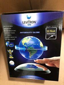Levitron Ion- AntiGravity Globe Magnetic  Floating Globe Rotating World Map Blue