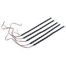 5 x 30 CM Waterproof Strip Band 15 LED 3528 SMD Cold White DC12V Auto P9V8