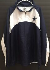 NFL Authentic Dallas Cowboys Windbreaker Pullover Quarter Zip Jacket Sz. XL EUC