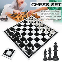 Portable Folding Chess Set Chessboard Pieces Kid Board Game Contemporary Chess