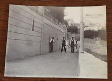 Photographie ancienne 1905 Plage Maldormé Marseille 11 x 8 cm Pétanque