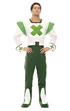 Herren Green Cross Code Mann Straßenverkehrssicherheit 70s 80s Motto Kostüm