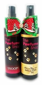 Christmas Twin Pack The Pawfume Shop, bow, dog perfume,cologne,fragrance spray