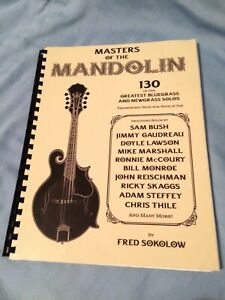 Masters of the Mandolin by Fred Sokolow Spiral Bound Hal Leonard Songbook