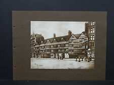 London, England, Photogravure, c. 1915 #09 Old Houses, Holborn