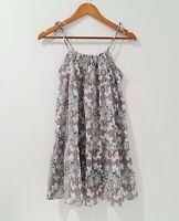 Zimmermann Girl Size 16 Summer Floral 100% Cotton Long Dress Shoulder Tie