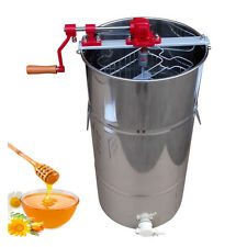 Large 2 Frame Stainless Steel Honey Extractor Beekeeping Equipment Silver
