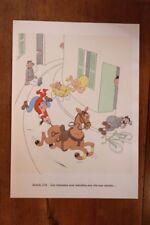 1955 Albert Dubout gravure couleurs Code de la Route à encadrer décoration n°13
