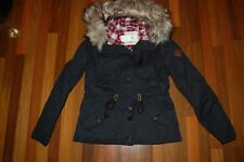 NWT Woman's MEDIUM HOLLISTER Stone Flannel Lined Anorak Jacket