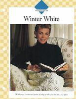 Winter White Cozy Afghan to Crochet Single Pattern Vanna White