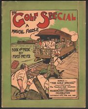 Golf Special A Musical Foozle 1909 Sheet Music 40 Pages