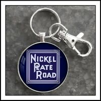 Vintage Railroad Sign Photo Keychain Nickel Plate Road Railway Train 🚂 RR 🎁