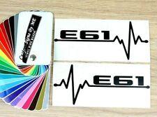 2x BMW E61 EKG Car Side Window Mirror Stickers Bumper Vinyl Decal Adhesive