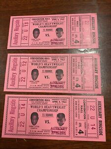Vintage Boxing Tickets Sonny Liston Floyd Paterson boxers fights 1963
