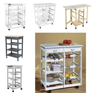 Küchenwagen Küchenregal wagen Servierwagen Küchentrolley Beweglich faltbar