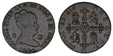 8 Copper Maravedis / Cuivre Isabella II - Isabel II 1844. Jubia. VF / Mbc.
