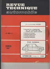 (169B) Revue technique automobile Simca 1100 / Fiat 500 Citroën Ami 6