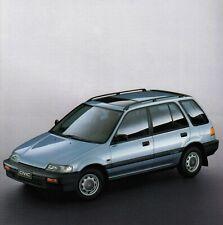 HONDA CIVIC SHUTTLE 4WD Allrad Van Klassiker Prospekt Brochure 1988 96