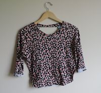 Women's HIP Happening in the Present Rose Open Back Shirt Size XS