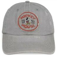 Disney Parks Mickey Mouse ''1928'' Timeless Logo Baseball Cap Adult Grey Unisex