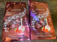Lindt Lindor 2-Bags Strawberries Cream Truffles Chocolate Candy 8.5 oz  08/2021