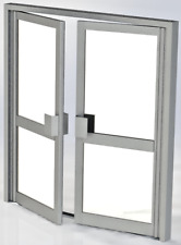 NEW ALUMINIUM COMMERCIAL ENTRANCE DOORS DIRECT FROM THE MANUFACTURER FROM £1399