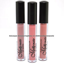 KLEANCOLOR 3 SHADES MADLY MATTE MAUVE NUDE BEIGE ROSE LIP GLOSS LIQUID LG3SET16