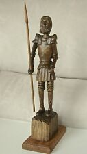 """Wooden Spear Hunter Carving - 14"""" tall - by Russell Beckwith"""