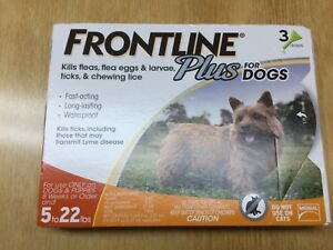Frontline plus for dogs 5 to 22 lbs 3 doses EPA approved product