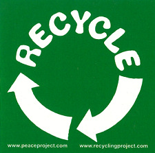 Recycle - Recycling Magnetic Bumper Sticker / Decal Magnet
