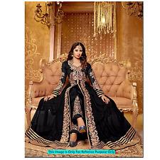 Anarkali Royal Black Bollywood Dress Indian Designer Ethnic Suit Party Wear
