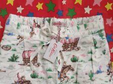 CATH KIDSTON BNWT XSmall Cowboy Pyjama PJ Lounge Bottoms UK 6-8 Gift Bag