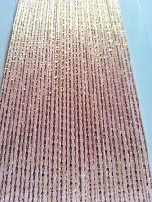 5M 3mm Thin Pink Satin Ribbon Gold Trim Card Making Scrapbooking Home Decor Art