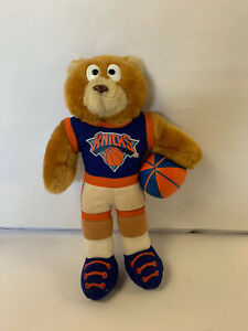 "1993 Good stuff Official NBA 8"" Plush Bear New York Knicks NYC Orange and Blue"
