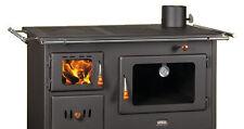 Estufa de Leña hierro fundido quemadores horno cocina hornilla Prity 14 kW con asas